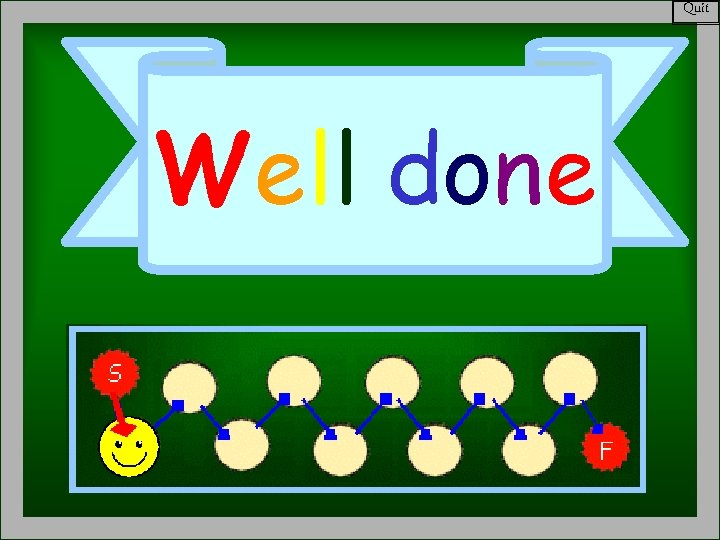 Quit Well done