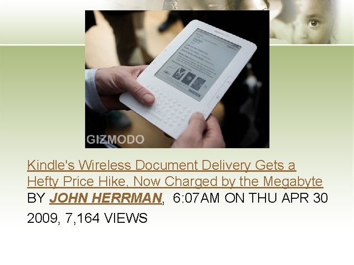 Kindle's Wireless Document Delivery Gets a Hefty Price Hike, Now Charged by the Megabyte