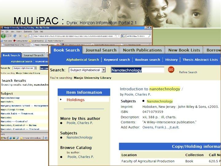 MJU i. PAC : Dynix: Horizon Information Portal 2. 1