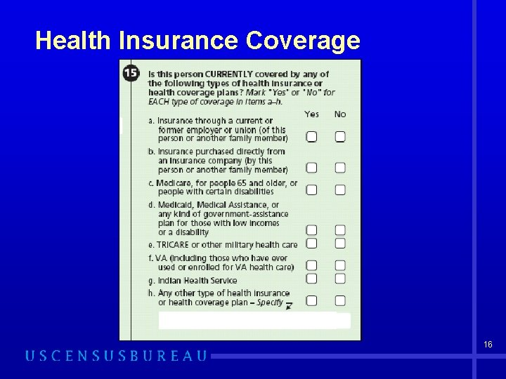 Health Insurance Coverage 16