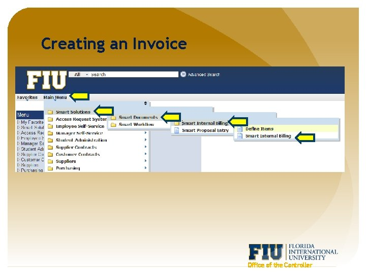 Creating an Invoice Office of the Controller
