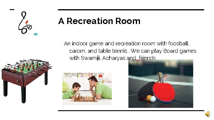 A Recreation Room An indoor game and recreation room with foosball, carom, and table