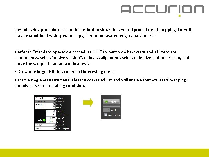 The following procedure is a basic method to show the general procedure of mapping.