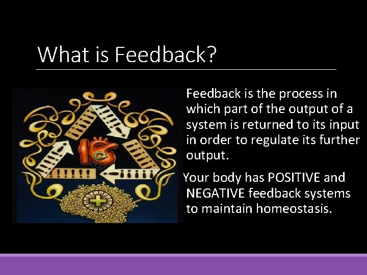 What is Feedback? Feedback is the process in which part of the output of