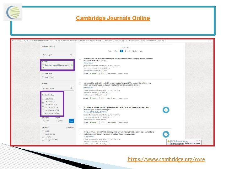 Cambridge Journals Online https: //www. cambridge. org/core