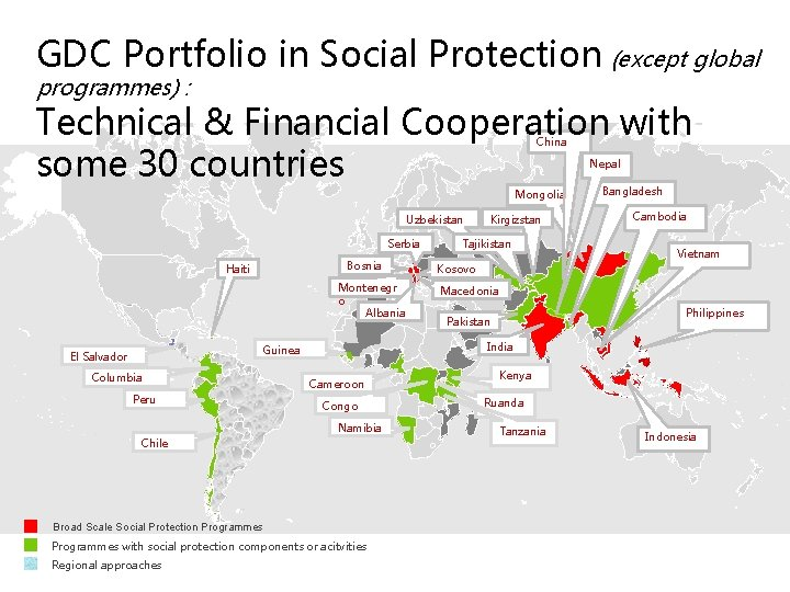 GDC Portfolio in Social Protection (except global programmes) : Technical & Financial Cooperation with