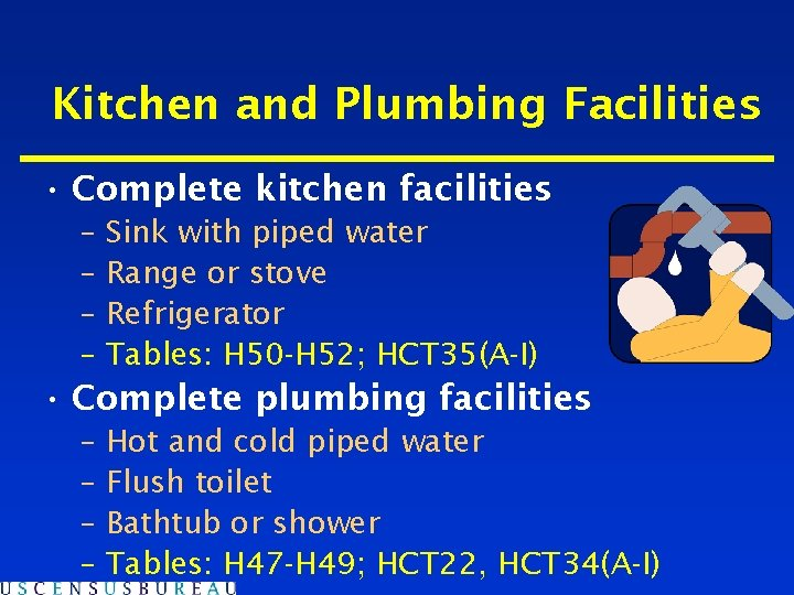 Kitchen and Plumbing Facilities • Complete kitchen facilities – Sink with piped water –