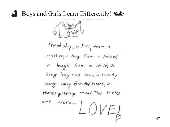Boys and Girls Learn Differently! 47