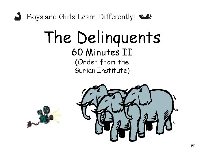 Boys and Girls Learn Differently! The Delinquents 60 Minutes II (Order from the Gurian