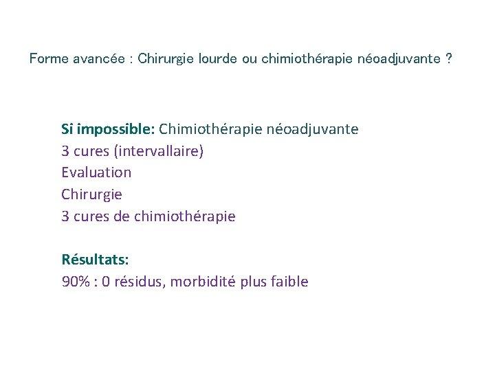 chimioterapie neoadjuvanta