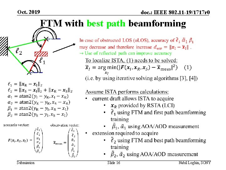 Oct. 2019 doc. : IEEE 802. 11 -19/1717 r 0 FTM with best path