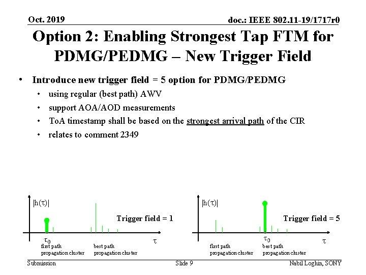 Oct. 2019 doc. : IEEE 802. 11 -19/1717 r 0 Option 2: Enabling Strongest