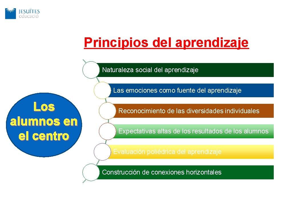 Principios del aprendizaje Naturaleza social del aprendizaje Las emociones como fuente del aprendizaje Los