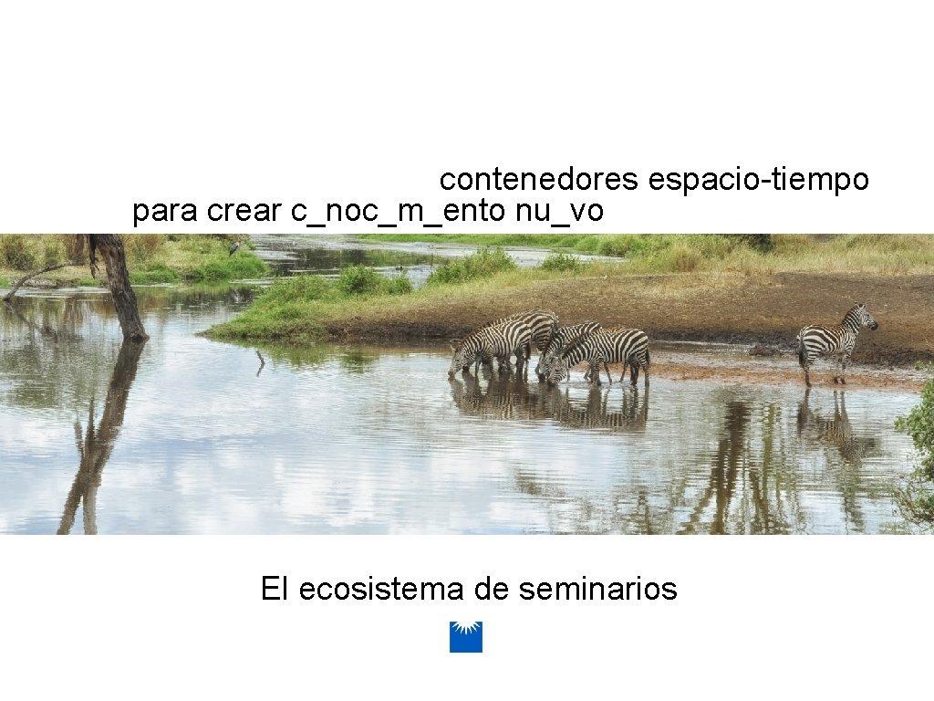 contenedores espacio-tiempo para crear c_noc_m_ento nu_vo El ecosistema de seminarios