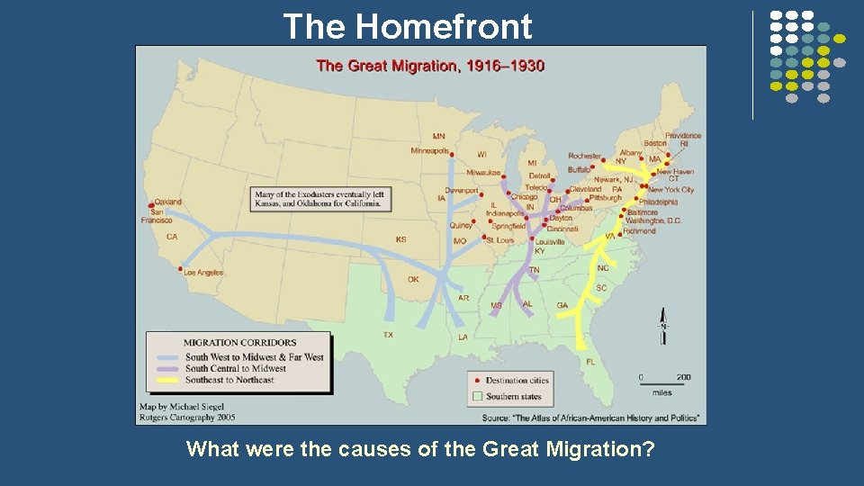 The Homefront What were the causes of the Great Migration?