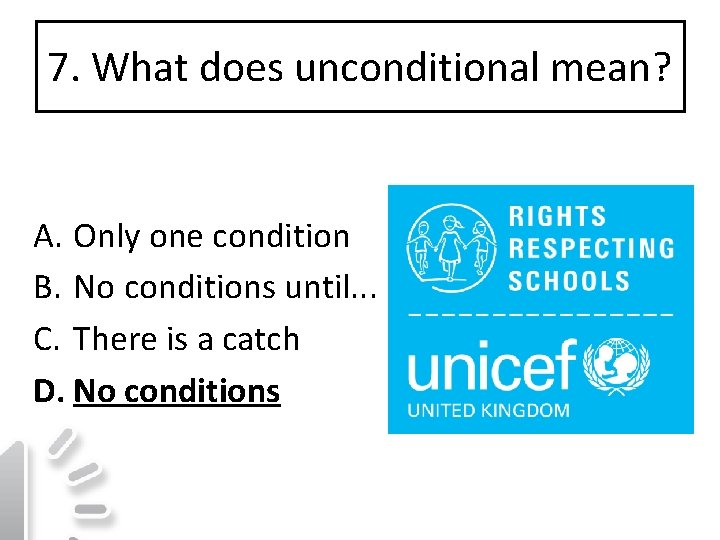 Mean unconditional what does What does