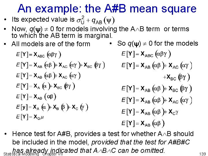 An example: the A#B mean square • Its expected value is • Now, q(y)