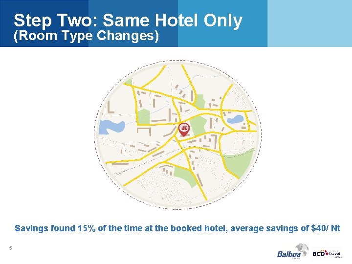 Step Two: Same Hotel Only (Room Type Changes) Savings found 15% of the time