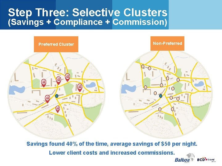 Step Three: Selective Clusters (Savings + Compliance + Commission) Preferred Cluster Non-Preferred Savings found