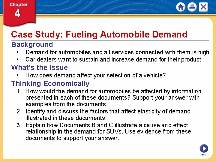 Case Study: Fueling Automobile Demand Background • • Demand for automobiles and all services