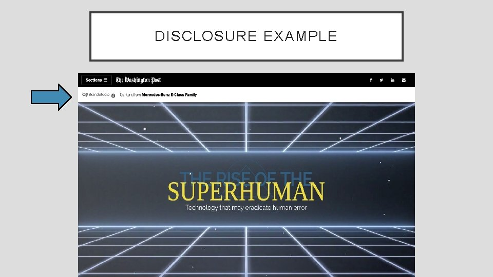 DISCLOSURE EXAMPLE