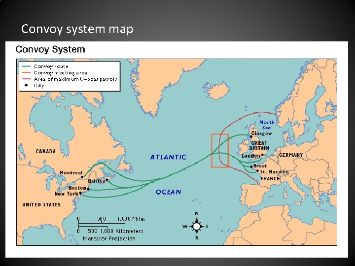 Convoy system map