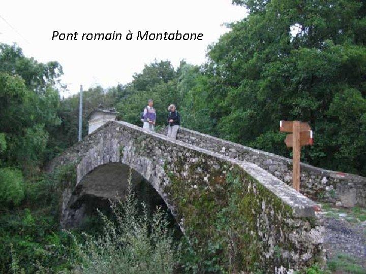 Pont romain à Montabone