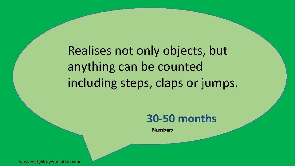 Realises not only objects, but anything can be counted including steps, claps or jumps.