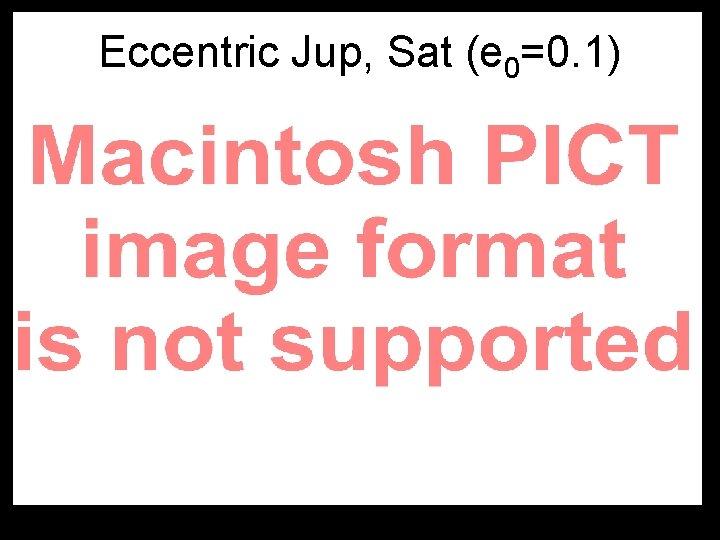 Eccentric Jup, Sat (e 0=0. 1)