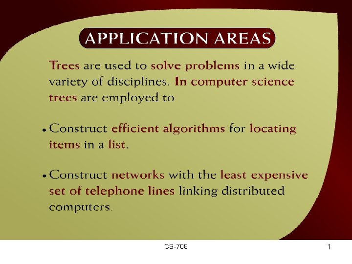 Application Areas – (44 - 2) CS-708 1