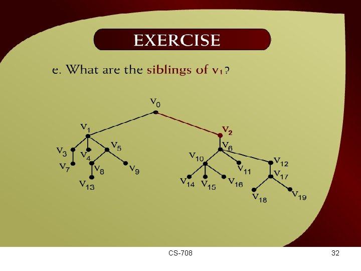 Exercise – (44 – 15 e) CS-708 32