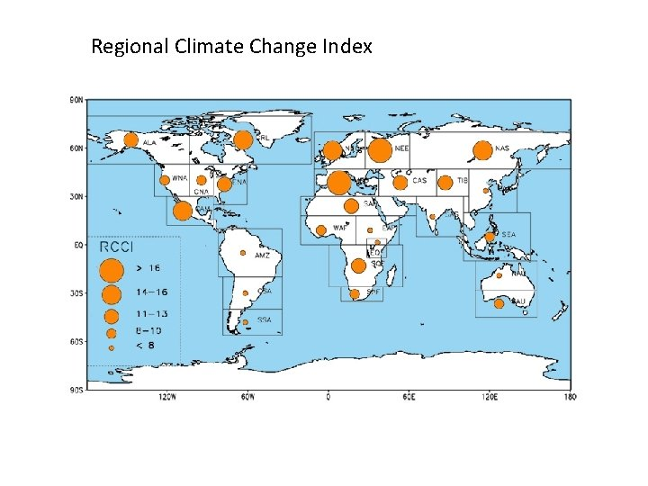 Regional Climate Change Index