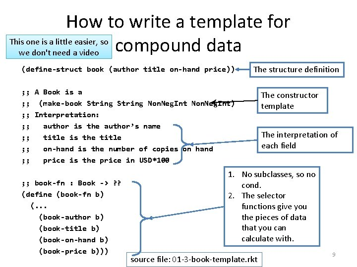 How to write a template for This one is a little easier, so compound
