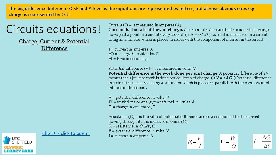 The big difference between GCSE and A level is the equations are represented