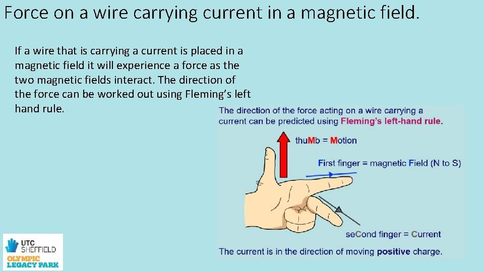 Force on a wire carrying current in a magnetic field. If a wire that