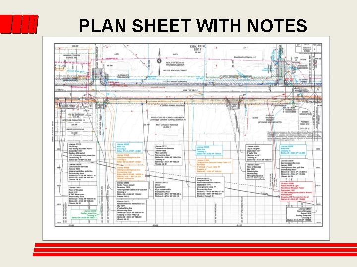PLAN SHEET WITH NOTES