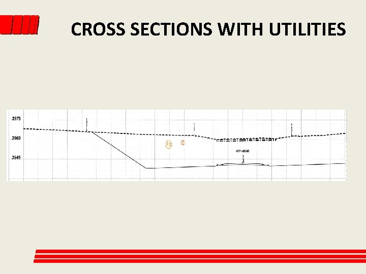 CROSS SECTIONS WITH UTILITIES