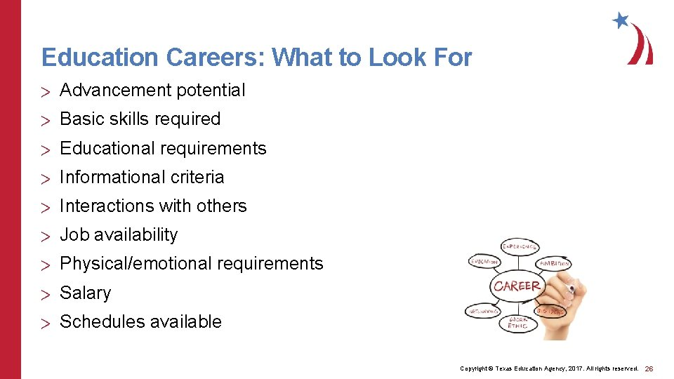 Education Careers: What to Look For > Advancement potential > Basic skills required >