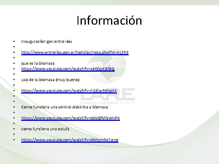 Información • • • • • Inauguración gov entre ríos http: //www. entrerios. gov.