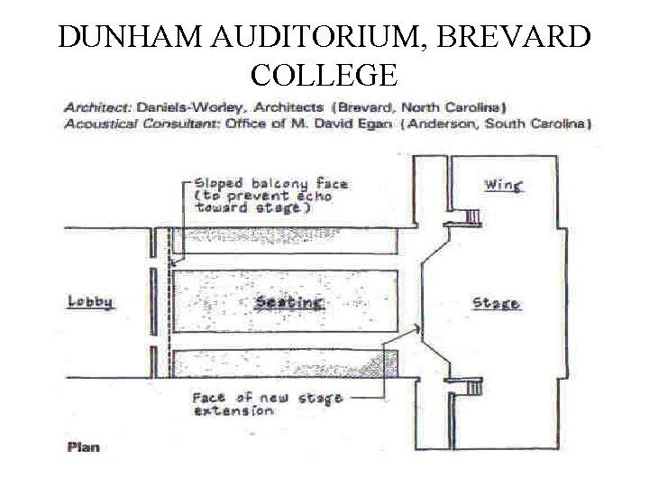 DUNHAM AUDITORIUM, BREVARD COLLEGE