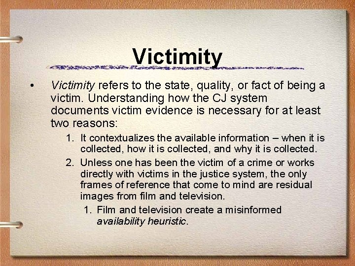 Victimity • Victimity refers to the state, quality, or fact of being a victim.