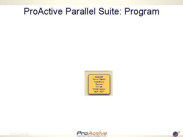 Pro. Active Parallel Suite: Program 14 Denis Caromel