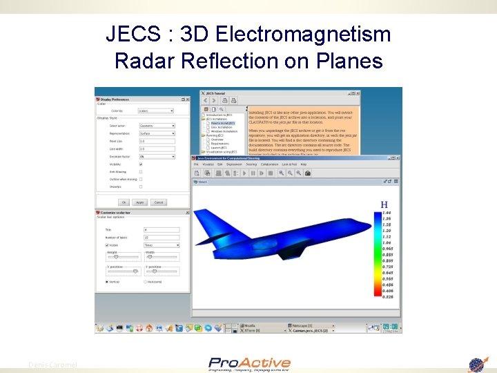JECS : 3 D Electromagnetism Radar Reflection on Planes 75 Denis Caromel