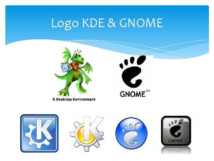 Logo KDE & GNOME