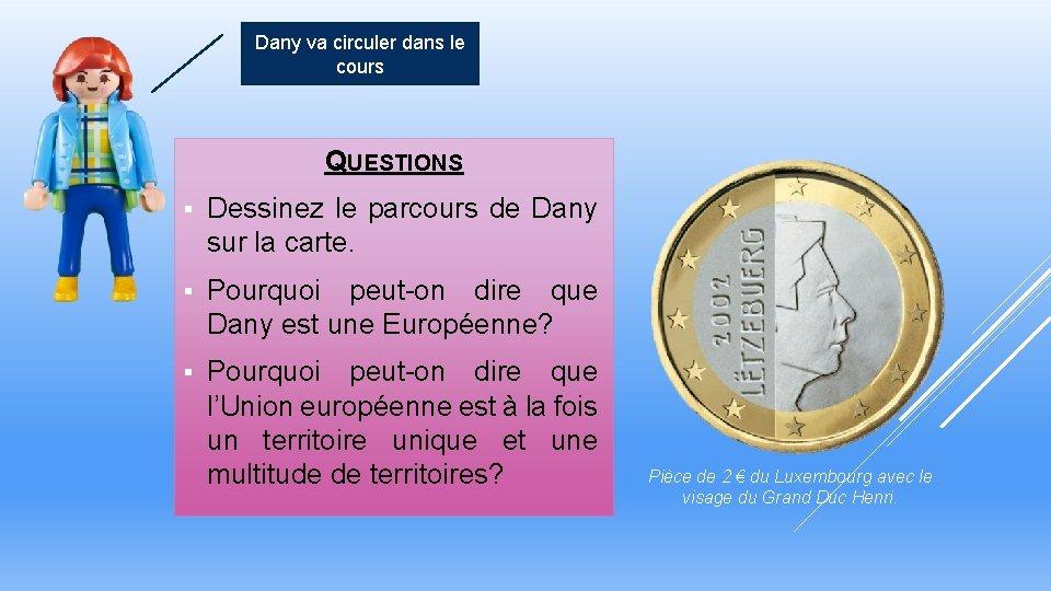 Dany va circuler dans le cours QUESTIONS § Dessinez le parcours de Dany sur
