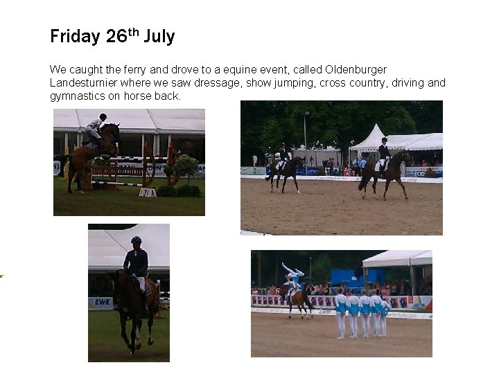 Friday 26 th July We Click caught to edit the. Master ferry and textdrove