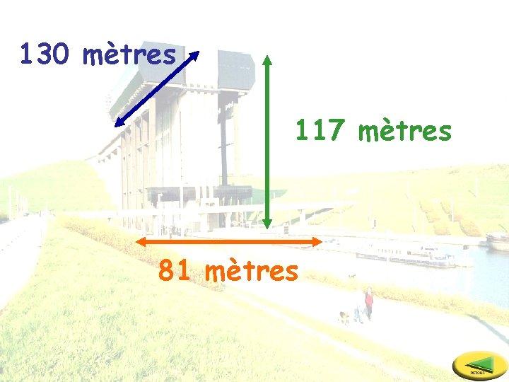 130 mètres 117 mètres 81 mètres