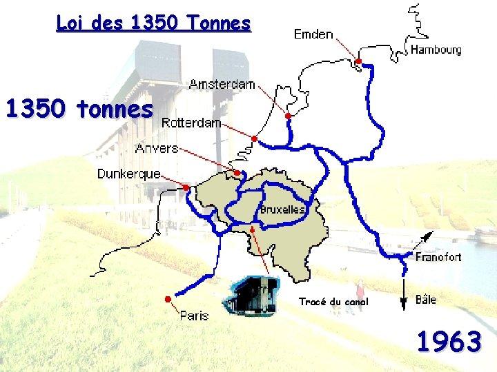 Loi des 1350 Tonnes 1350 tonnes Tracé du canal 1963
