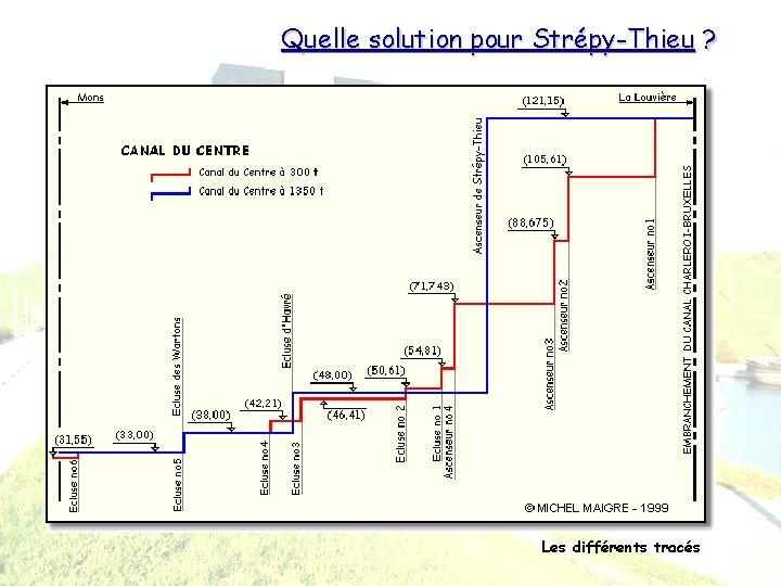 Quelle solution pour Strépy-Thieu ? Les différents tracés