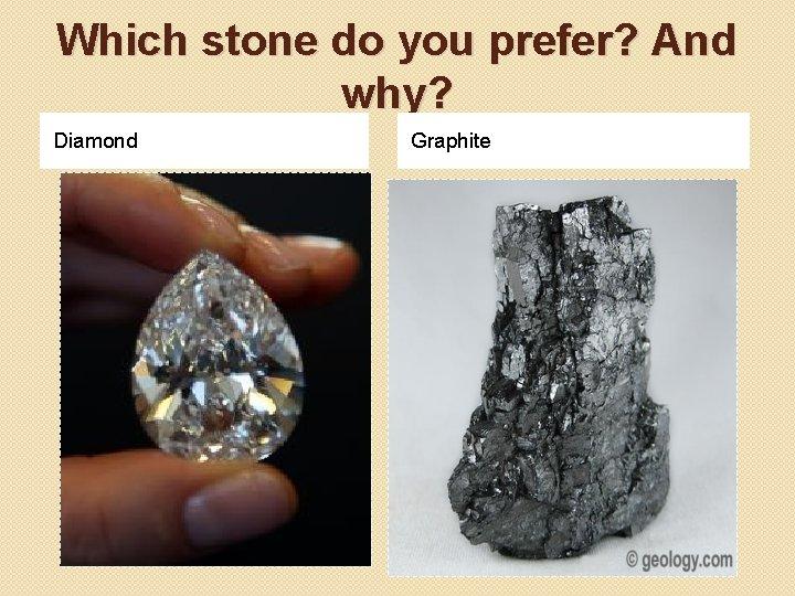 Which stone do you prefer? And why? Diamond Graphite